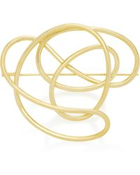 Joanna Laura Constantine - Gold-plated Knot Brooch - Lyst