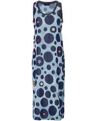 Manish Arora - Indigo Pop Embroidered Denim Dress - Lyst