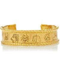 Jean Mahie - 22k Yellow Gold Zodiac Cuff Bracelet - Lyst