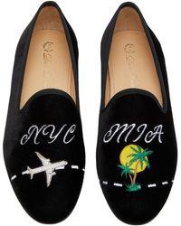 54991e66d1b Del Toro - X Moda Operandi Nyc To Mia Velvet Loafers - Lyst