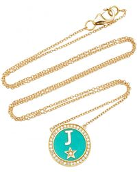 Andrea Fohrman - M'onogram Turquoise Enamel Necklace - Lyst