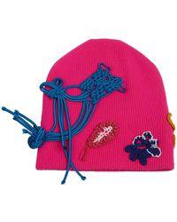Burberry - Fluro Crochet Knitted Beanie - Lyst