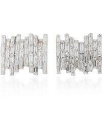 Suzanne Kalan - 18k White Gold Diamond Earrings - Lyst
