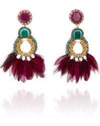 Ranjana Khan - Paquetá Feather Embellished Earrings - Lyst