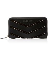 Givenchy | Pandora Studded Suede-trimmed Leather Wallet | Lyst