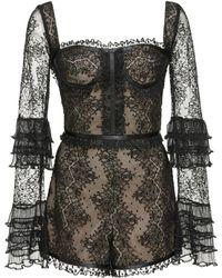 Alexis - Kennedy Lace Romper - Lyst