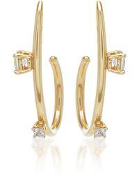 Wasson   Single Orbit 14k Gold Sapphire Earrings   Lyst