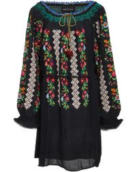 Needle & Thread - Embroidered Voile Mini Dress - Lyst