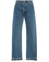 RE/DONE - Mid-rise Stovepipe Straight-leg Jeans - Lyst