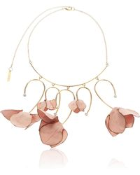 Marni - Fabric Flowers And Strass Necklace - Lyst