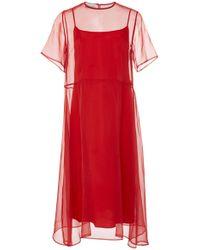 Mansur Gavriel - Layered Chiffon Dress - Lyst