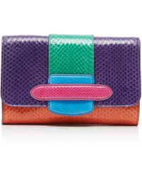Michino Paris - Phedra Pm Clutch In Watersnake - Lyst