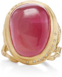 Annette Ferdinandsen - 18k Gold Tourmaline Branch Ring - Lyst
