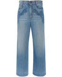Etro - Dorset Embroidered High-rise Cropped Jeans - Lyst
