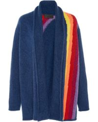 The Elder Statesman - Italy Intarsia Cashmere Smoking Jacket - Lyst