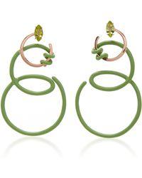 Bea Bongiasca - Double Curl Vine Earrings - Lyst