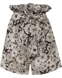 Lisa Marie Fernandez - Floral Cotton-voile Shorts - Lyst