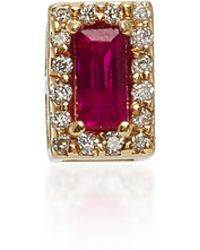 Alison Lou - 14k Gold Ruby And Diamond Stud Earring - Lyst