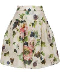Marchesa - Floral Printed Skirt - Lyst