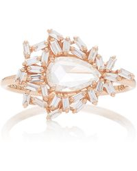 Suzanne Kalan - One Of A Kind 18k Rose Gold Diamond Ring - Lyst