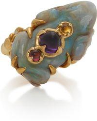 Sylvie Corbelin - 18k Gold, Opal, Tourmaline And Amethyst Ring - Lyst