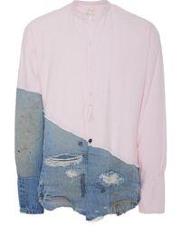 Greg Lauren Panelled Cotton Shirt
