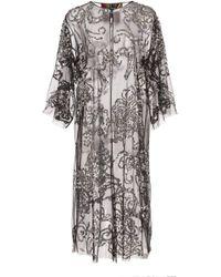 Libertine - Silver Sequin Tulle Robe - Lyst