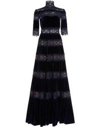 Costarellos - Velvet A-line Gown - Lyst