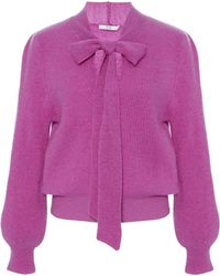 Co. - Pussy Bow Cashmere Knit Sweater - Lyst