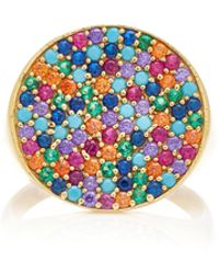 Joanna Laura Constantine - Gold-plated Brass And Cubic Zirconia Ring - Lyst
