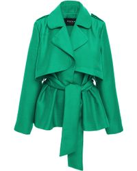 Paper London - Short Trench Jacket With Wrap Front - Lyst