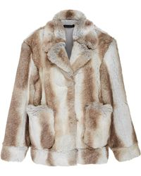 Sally Lapointe - Faux Fur Bomber Coat - Lyst