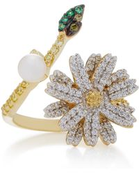 Anabela Chan | 18k Gold And White Gold Vermeil Daisy Multi-stone Ring | Lyst