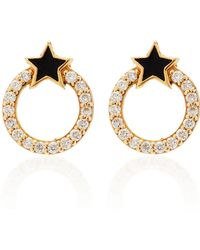 Sydney Evan - Enamel Star With Pave Circle Studs - Lyst