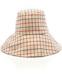 Maison Michel - Isabella Checked Wool Bucket Hat - Lyst