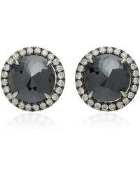 Nina Runsdorf - Rose Cut Black Diamond 18k Gold Studs - Lyst