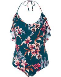 Tori Praver Swimwear | Babette Ruffle-trimmed Floral-print One-piece Swimsuit | Lyst