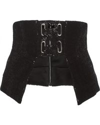 Sally Lapointe - Flocked Sequin Corset - Lyst