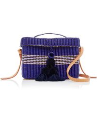 Nannacay | M'o Exclusive Medium Roge Straw Tote With Pompoms And Strap | Lyst