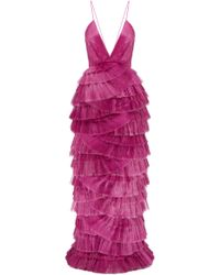 Alice McCALL - Making Me Blush Tiered Ruffle Gown - Lyst