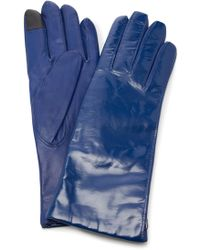 Maison Fabre - Vinyl And Leather Gloves - Lyst