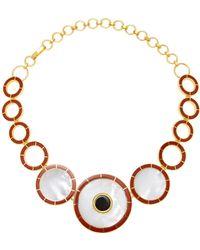 Monica Sordo - Brujo Orbit Mother Of Pearl Necklace - Lyst