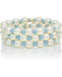 Roxanne Assoulin - Set Of Three Gold-tone, Pearl And Bead Bracelet - Lyst