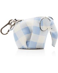 Loewe - Elephant Gingham Leather Coin Purse - Lyst