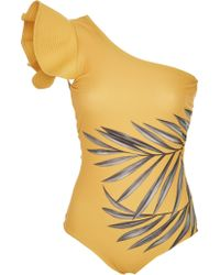 Johanna Ortiz - Aloha Spirit One-shoulder Printed Swimsuit - Lyst