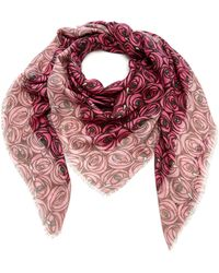 Loewe - Floral-print Modal And Cashmere-blend Scarf - Lyst