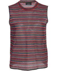 Akris - Striped Sleeveless Silk Knit Top - Lyst