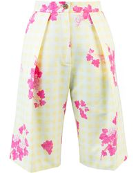 Lake Studio - Printed Cotton And Silk-blend Shorts - Lyst