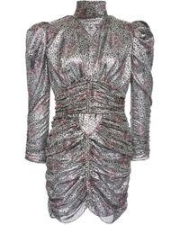 Isabel Marant - Pandor Printed Silk-lamé Mini Dress - Lyst