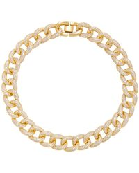 Fallon - Gold-tone Pave Crystal Choker - Lyst